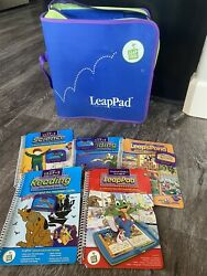 Leapfrog Learning System Case And Books W/cartridges Scooby-do + No Console