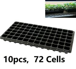 10pcs Seedling Seed Starter Tray Inserts 72 Easy Pop Out Cells Seed Starting Usa