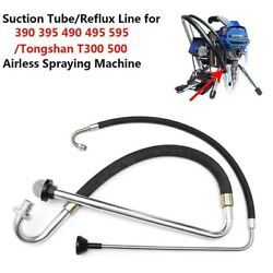 Suction Tube Reflux Line Airless Paint Sprayer Accessories For Graco 390 395 490