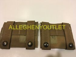 Lot Of 2 - Us Military K-bar Adapter, Molle, Pals, Coyote Brown, Mint