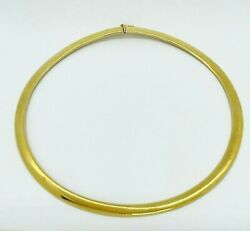 14k Yellow Gold Omega Chain-19 In Length