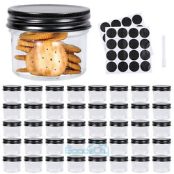 40 Pack Glass Jars With Lids Mason Jar Spice Honey Small Clear Containers