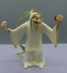Lenox Try An Apple Dearie Snow White Witch Ornament New In Box