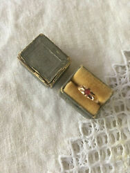 Victorian Antique Vintage 10k Gold Ring With Ruby -- Size 6.25 -- 0.94gr W/box