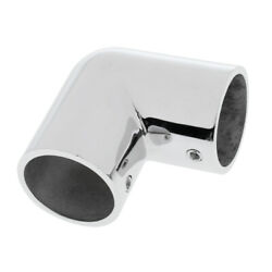 Stainless Steel Yacht Boat Hand Rail Fittings 90 Degree Elbow For 1 Pipe