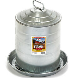 Miller Manufacturing 5 Gallon Double Wall Metal Poultry Fount Automatic Waterer