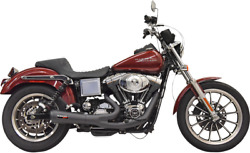 Bassani Ripper 2-1 Black Motorcycle Exhaust 91-05 Harley Dyna Fxdb Fxdl