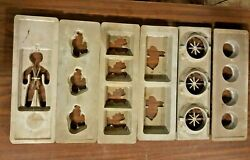 Lot 17 Vintage Chocolate Candy Molds Antique Cast Aluminum Bunny Santa Rooster