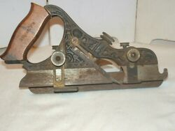 Antique Stanley Plow Plane No Very Ornate Wood Tool