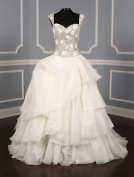 Authentic New St. Pucchi Annabelle Z346 Wedding Dress Beaded Ballgown Straps 6