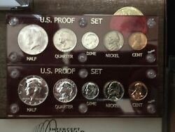 1964 Us Mint Proof Set And Denver Mint Set- Both Kennedy Half Dollars Are Type 1