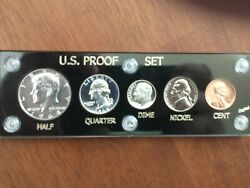 1964 Us Mint Proof Set With Type1 Kennedy And Cameo Blunt 9 Dime