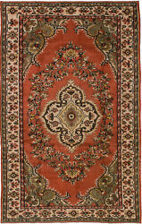 Vintage Hand-knotted Carpet 5and03911 X 9and0394 Traditional Oriental Wool Area Rug