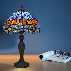 Style Table Lamp Stained Glass Handcrafted Bedside Light Desk Lamps Uk