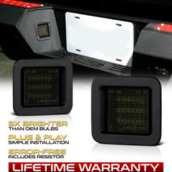 Led Smoke Lens License Plate Rear Bumper Tag Lights For Ford 15-20 F-150 Pickup