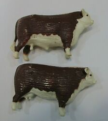 Vintage Tonka Plastic Hereford Cow And Bull For Old Steel Stock Truck Free S/h