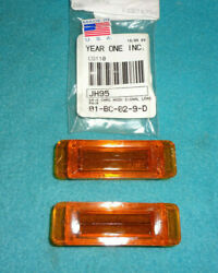 1968-69 Charger Hood Turn Signal Indicator Lenses 1-pr Year One Jh95 Usa Repros