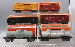 Lionel Vintage O Post-war Freight Cars 6462, 6656, 6035,6257, 6456 And 6465 [6]