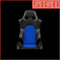 Braum Racing Advan Reclinable Black Leatherette And Blue Cloth / Blue Stitching