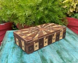 Handcrafted Wooden Antique Engraved Beautiful Indian Jewelry Box Storage Box