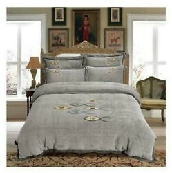 High-end Bed Sheets Crystal Velvet Occidental Style 4 Piece Flannel Bedding Bags