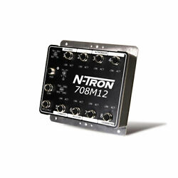 708m12 N-tron Ip67 Rated 8 Port Fully Managed Industrial Ethernet Switch