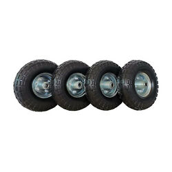 Slt Gdpodts 3.50-4 Inch No Flat Rubber Utility Cart Replacement Tires, Set Of 4