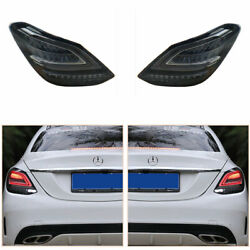 Taillight Assembly For Benz C-class W205 2014-2020 Dark Led Turn Signal Dynamic