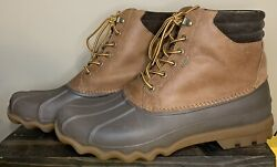 Sperry To Side Avenue Duck Boots Mens Size 10.5 Hardly Worn