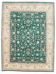Vintage Hand-knotted Carpet 9and0393 X 12and0391 Traditional Oriental Wool Area Rug