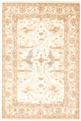 Vintage Geometric Hand-knotted Carpet 6and0390 X 9and0391 Traditional Wool Area Rug