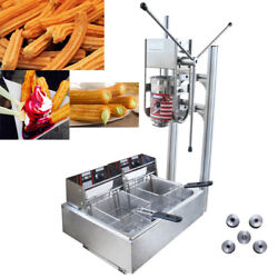 3l 110v Commercial Vertical Manual Churrera Churros Machine With Frying Oven Us