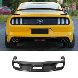 Gt350r Dry Carbon Fiber Rear Diffuser Lip Spoiler 1pc For Ford Mustang 2015-2017