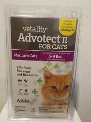 Vetality Advotect ll for medium cats and kittens 5 9 lbs. 6 month dosage #0347 $22.00