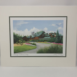 Disney The Wilderness Lodge By Larry Dotson 11x14 Matted Print
