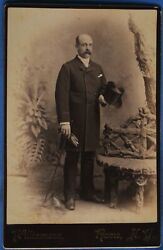 Cabinet Photo Man Stove Pipe Hat Gloves Williamson Rome New York Ny 1890s