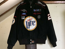 Rusty Wallace Chase Authentics Miller Lite Jacket Size L Nascar 2 Winston Cup