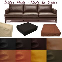 Tailor Madecover Onlyfaux Leather Skin Box Square Sofa Seat Bench Cushion Pb4