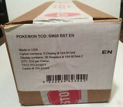 Pokemon Sun And Moon Sm05 Ultra Prism Sealed Booster Box Case - 6 Booster Boxes