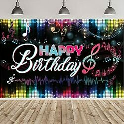 Rockstar Band Musical Theme Happy Birthday Backdrop Banner Party Decorations
