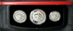 2012 Australia Lunar Year Of The Dragon 3-coin Proof Coin Set Free S/h 1000 Mint