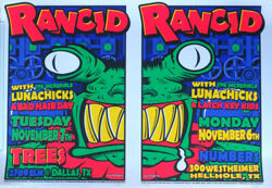 Lunachicks Rancid Original Issue 1995 Uncle Charlie Signed Ed Double Poster