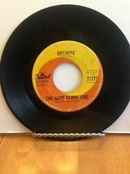 The Dave Clark Five Because / Theme Without A Name 45 Rpm Record Rare
