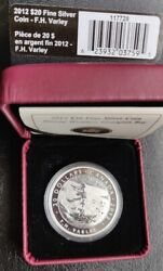 2012 20 Fine Silver Coin- F.h.varley Stormy Weather, Georgian Bay. Only 7000.
