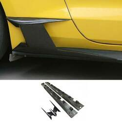 Cmh Dry Carbon Fiber Exterior Door Panel Side Skirts For Ford Mustang 2015-2021