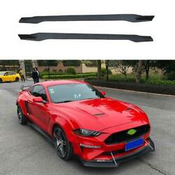 Gtss Dry Carbon Fiber Exterior Door Panel Side Skirts For Ford Mustang 2015-2021