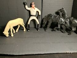 Vintage 1967 Multiple Toymakers THE LONE RANGER with vintage horses