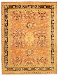 Vintage Hand-knotted Carpet 9'0 X 11'9 Traditional Dark Copper Wool Area Rug