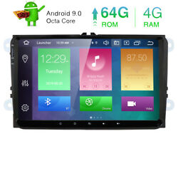 9 Android 10 8-core 4gb+64gb Car Stereo Gps Radio Head Unit Canbus Tpms For Vw
