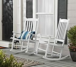 Mainstays Outdoor Wood Porch Rocking Chair White Color Weather Resistant
